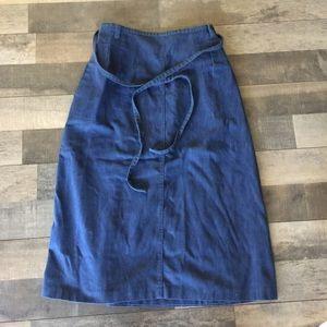 Vintage Denim Wrap Skirt w/pockets